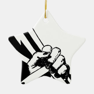 Power Fist Ceramic Ornament