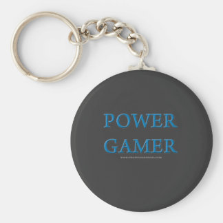 Power Gamer Basic Round Button Key Ring