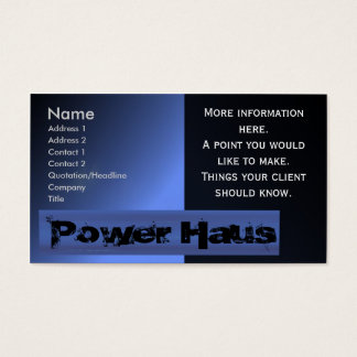 Power House Business Card