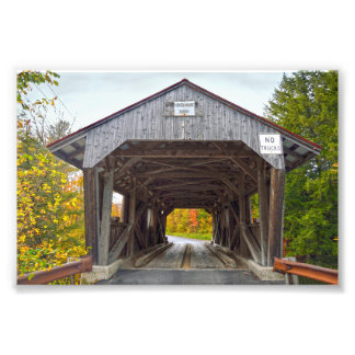 Power House Covered Bridge, Vermont Photo Art