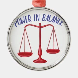 Power In Balance Silver-Colored Round Decoration