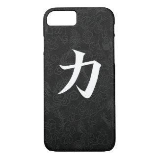 Power Japanese Kanji Calligraphy Black Dragon iPhone 7 Case