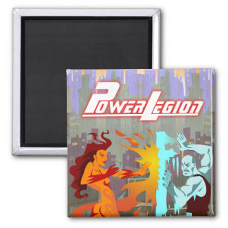 Power Legion magnet: Fire and Ice Square Magnet