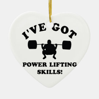 power lift gift items ceramic ornament