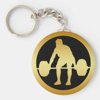 POWER LIFTER BASIC ROUND BUTTON KEY RING