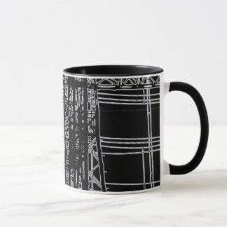 "'POWER LINES"" 11 oz. RINGER COFFEE MUG"