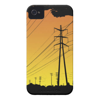Power lines Blackberry Bold iPhone 4 Case-Mate Cases