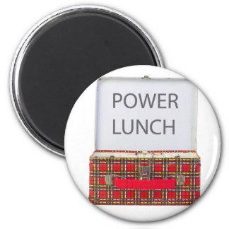 POWER LUNCH ...BOX DESIGN 6 CM ROUND MAGNET