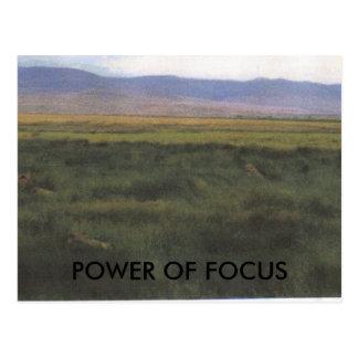 POWER OF FOCUS POSTCARD