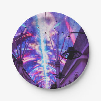 Power Of Fremont Street 7 Inch Paper Plate