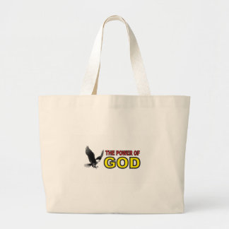 power of god yellow large tote bag