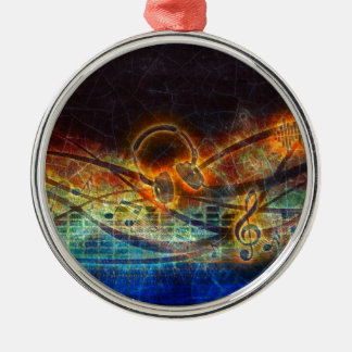 power of music metal ornament