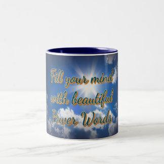 """""""Power of Positive Thinking"""" on Beautiful Blue Mug"""
