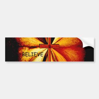 "Power of Prayer ""Believe"" Bumper Sticker"