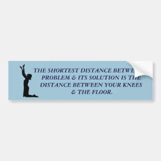POWER OF PRAYER BUMPER STICKER