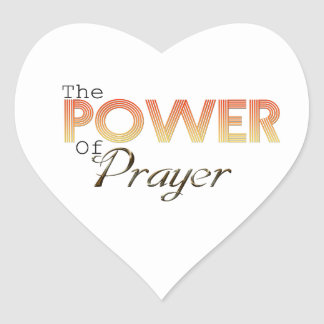 Power of Prayer Heart Sticker