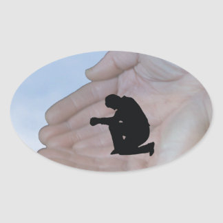 Power of Prayer Oval Sticker