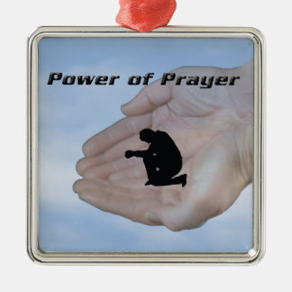 Power of Prayer Silver-Colored Square Decoration