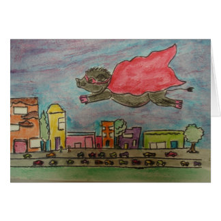 Power Pig Greeting Card