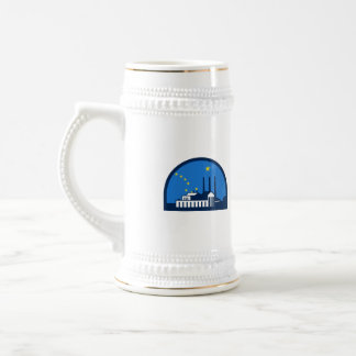 Power Plant Alaska Flag Half Circle Retro Beer Stein