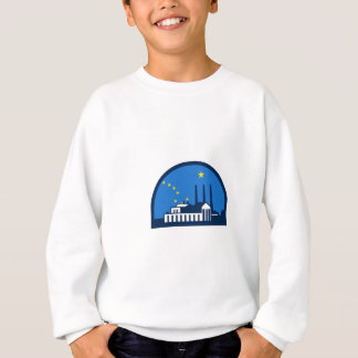 Power Plant Alaska Flag Half Circle Retro Sweatshirt