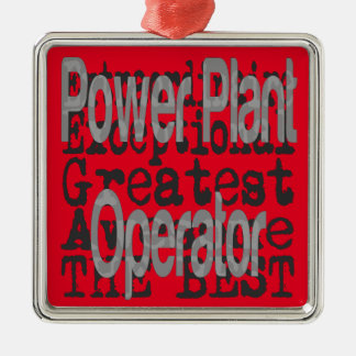 Power Plant Operator Extraordinaire Silver-Colored Square Decoration