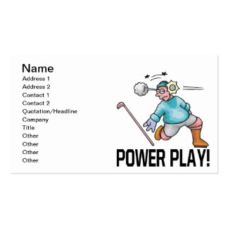 Power Play Pack Of Standard Business Cards