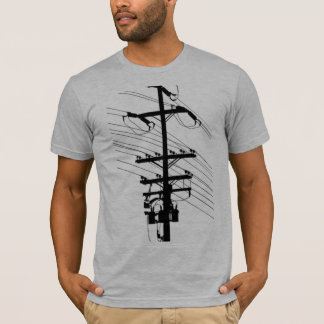 Power Pole Silhouette by Robert Lopo T-Shirt