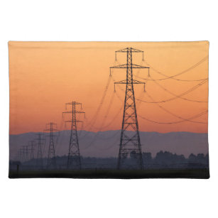 Power Pylons at Sunset Placemat