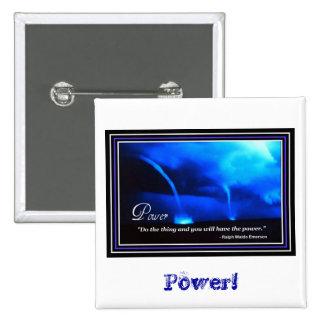 Power - Quotation 15 Cm Square Badge