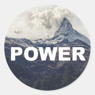 Power Round Sticker