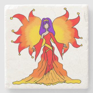 """Power"" Simple Fairy Beverage Coaster Stone Coaster"