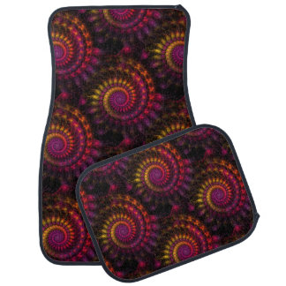 Power Spirals Fractal Pattern I Car Mat