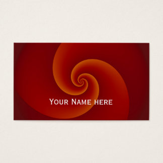 Power Spirals Fractal Pattern - red Business Card
