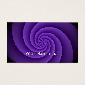 Power Spirals Fractal Pattern - violet Business Card