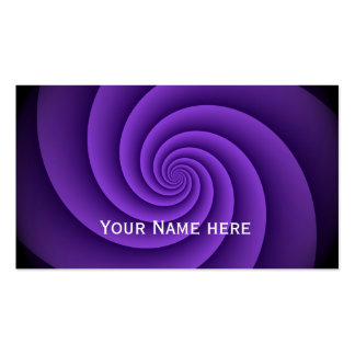 Power Spirals Fractal Pattern - violet Pack Of Standard Business Cards