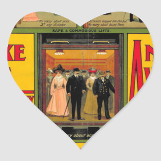 Power station London (I had) Railway, by unknown Heart Sticker