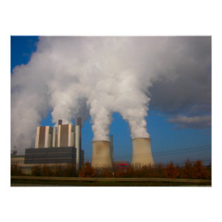Power Station Pollution 4 Poster