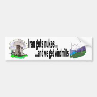 Power Struggle-Nukes v. Windmills Bumper Sticker