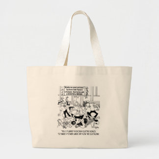 Power Surge Cartoon 7308 Large Tote Bag