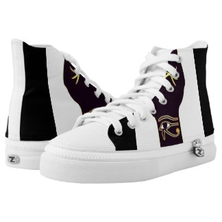 Power to the Original People Unisex High Top Printed Shoes