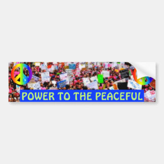 POWER TO THE PEACEFUL BUMPER STICKER