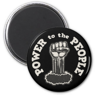 Power to the People 6 Cm Round Magnet