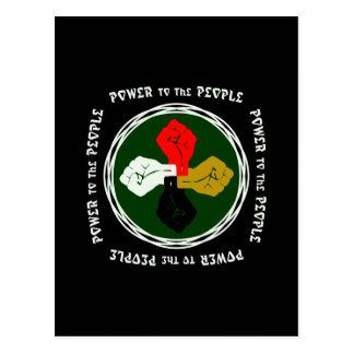 Power to the People Egypt Postcard