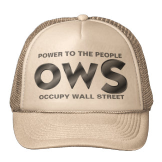 POWER TO THE PEOPLE OCCUPY WALL STREET CAP
