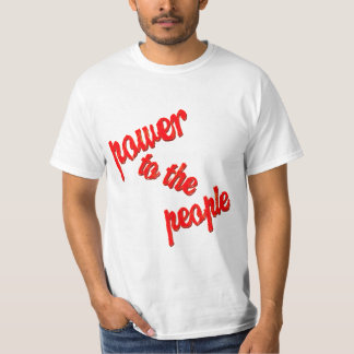 Power to the People Text T-Shirt