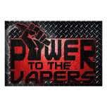 Power To The Vapers Poster