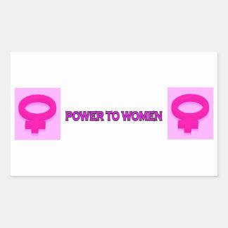 POWER TO WOMEN RECTANGULAR STICKER