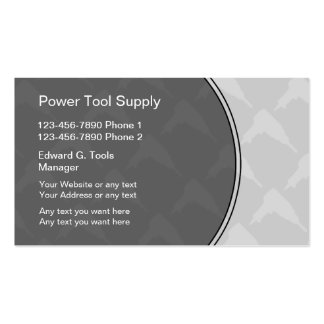 Power Tools Supply Business Cards