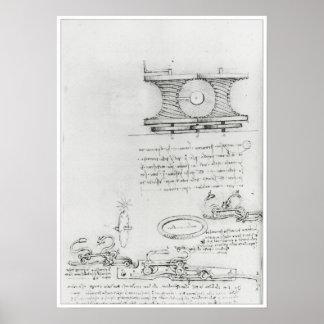 Power Transmitting Device, Leonardo da Vinci Print